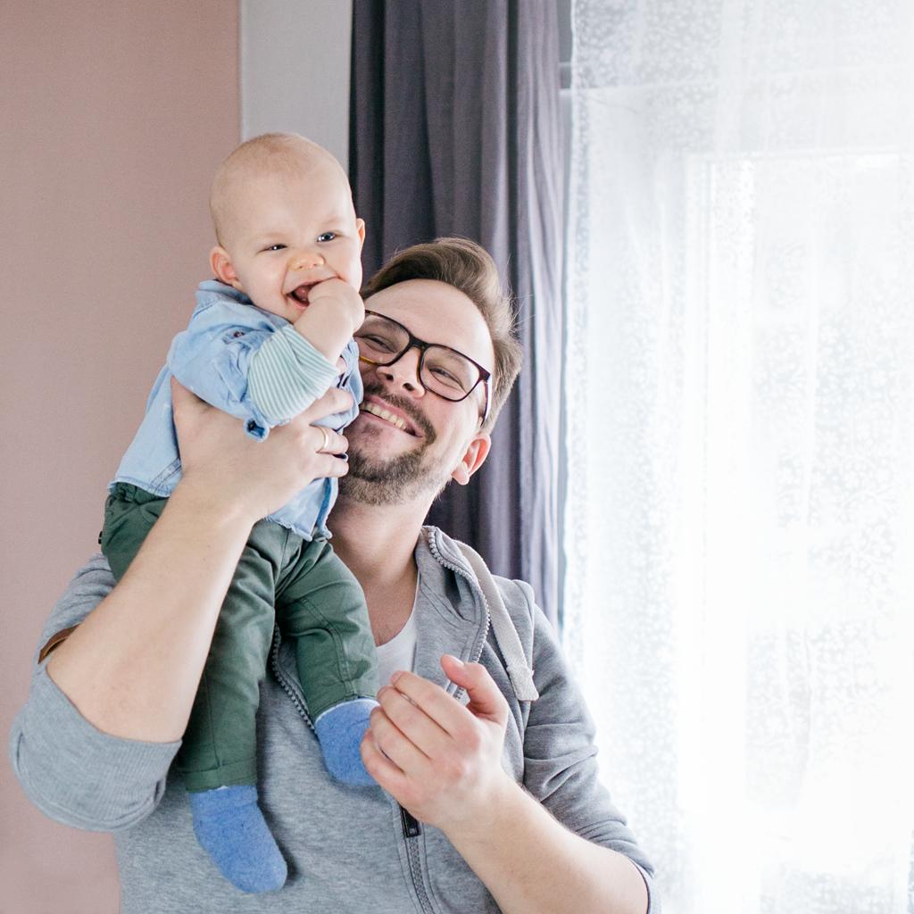 Papa und Sohn Lifestyle